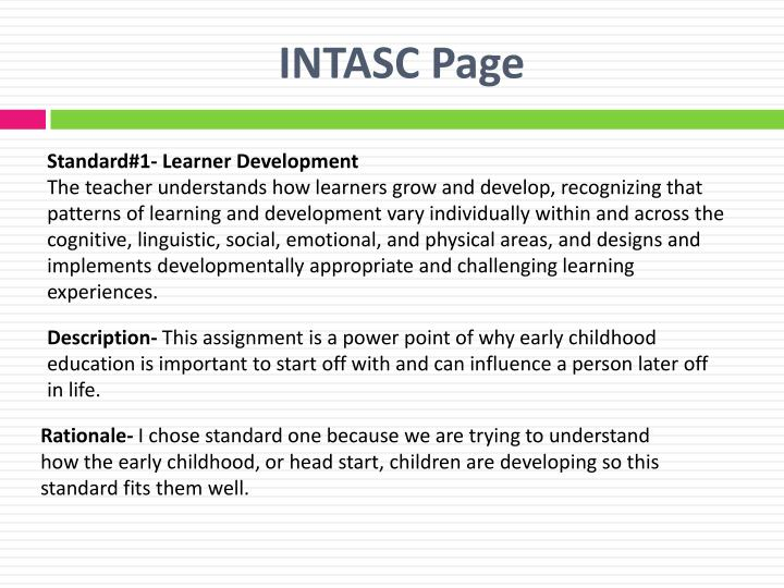 INTASC Page