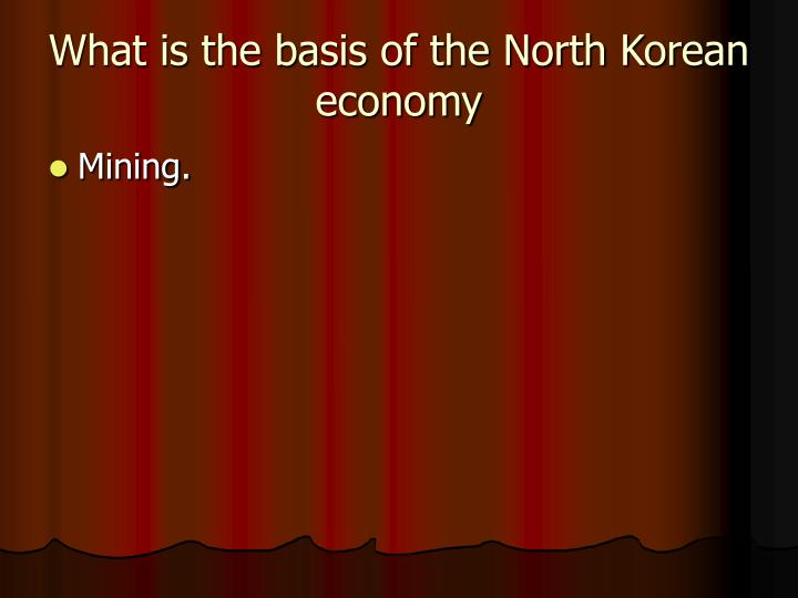 What is the basis of the North Korean economy