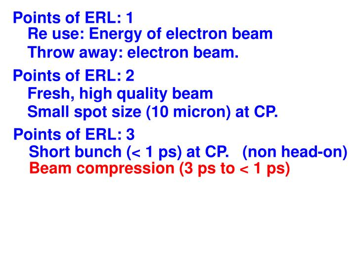 Points of ERL: 1