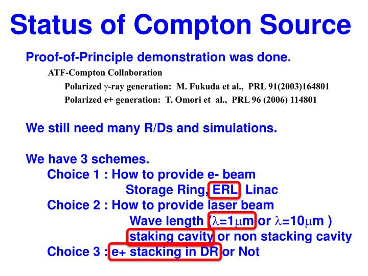 Status of Compton Source
