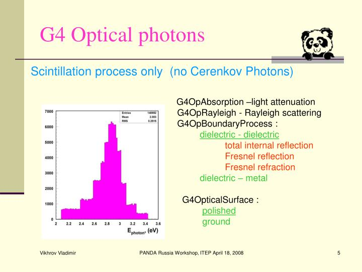 G4OpAbsorption –light attenuation