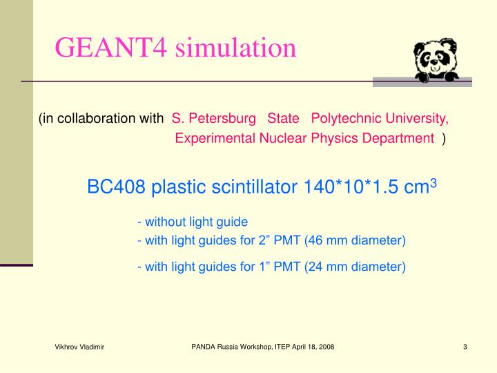 GEANT4 simulation