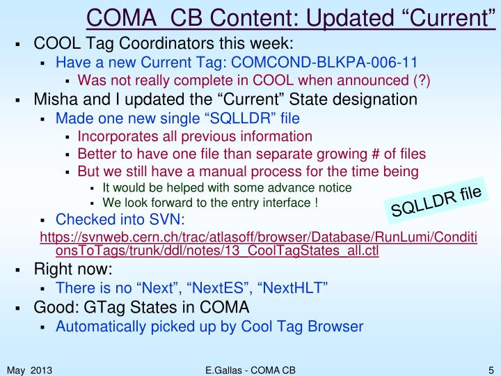 "COMA_CB Content: Updated ""Current"""