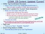 coma cb content updated current