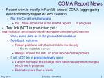 coma report news