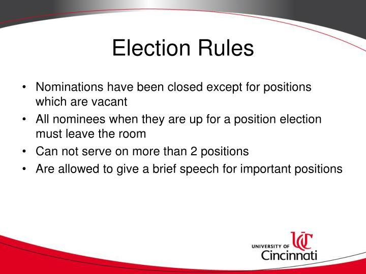 Election Rules