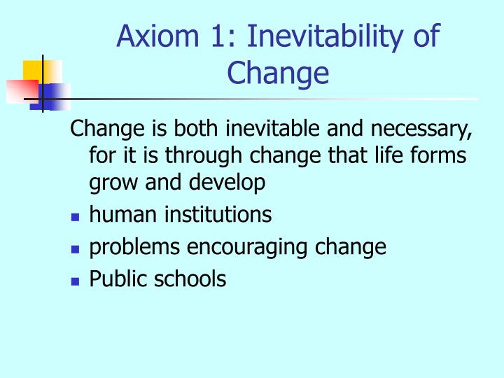 Axiom 1: Inevitability of Change