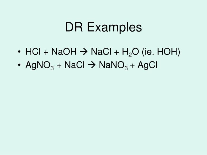 DR Examples