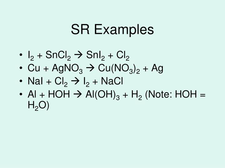 SR Examples