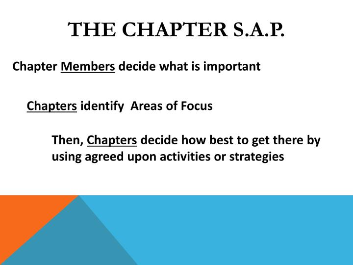 The Chapter S.A.P.