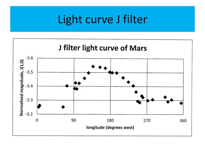 Light curve J filter