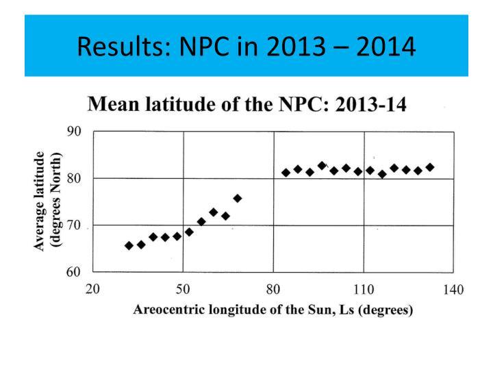 Results: NPC in 2013 – 2014