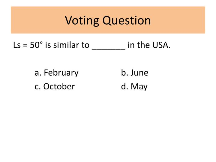 Voting Question