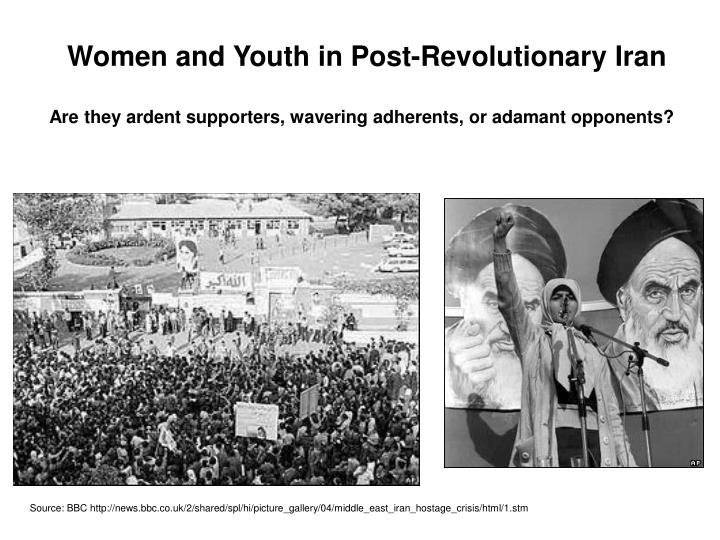 Women and Youth in Post-Revolutionary Iran