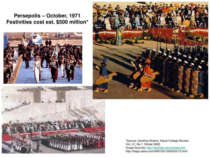Persepolis – October, 1971