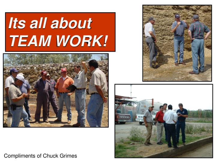 Its all about TEAM WORK!