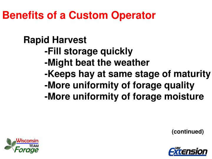 Benefits of a Custom Operator