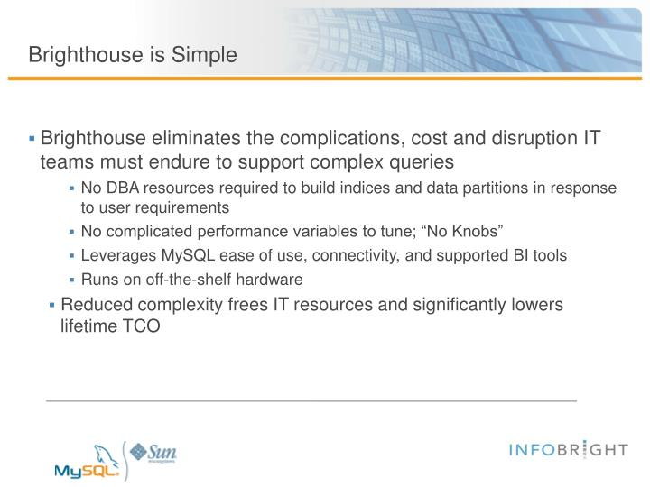 Brighthouse is Simple