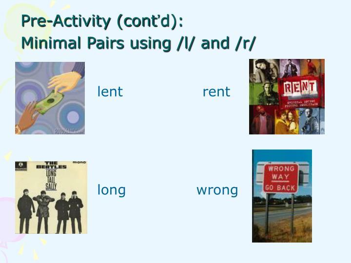 Pre-Activity (cont