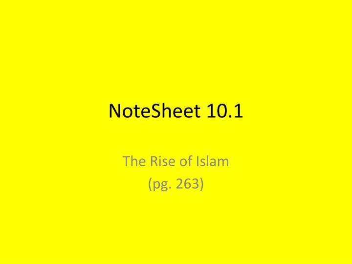 NoteSheet