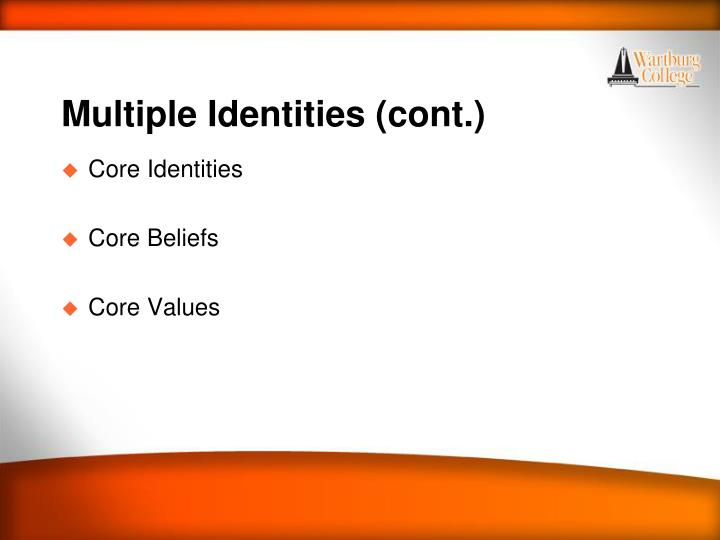 Multiple Identities (cont.)