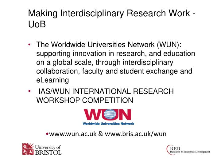 Making Interdisciplinary Research Work - UoB