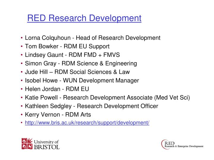 RED Research Development