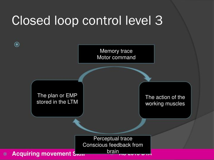 Closed loop control level 3