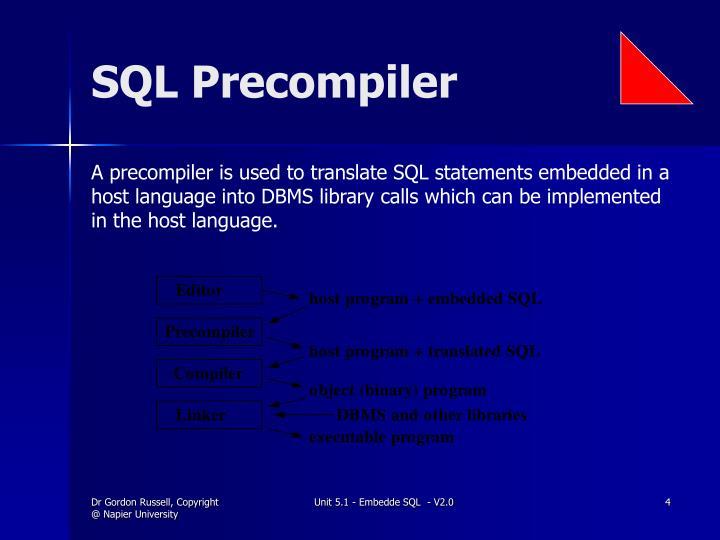 SQL Precompiler