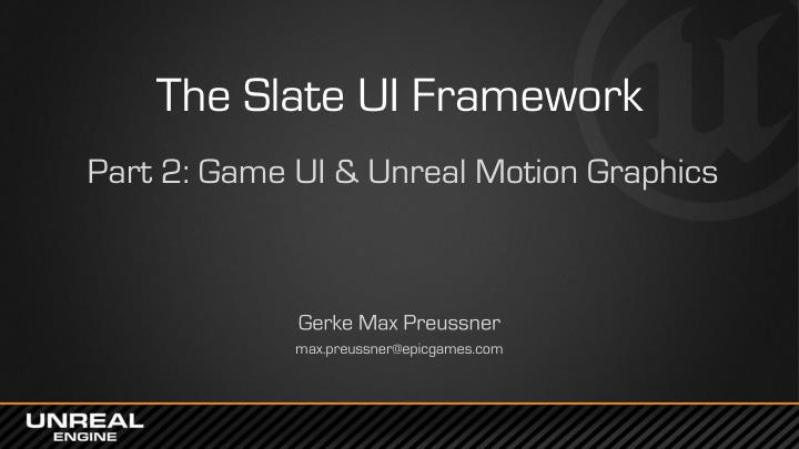 The Slate UI Framework
