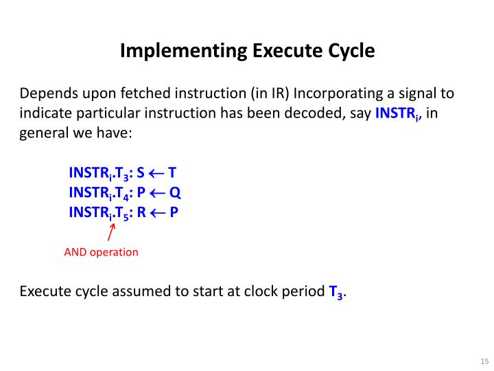 Implementing Execute Cycle