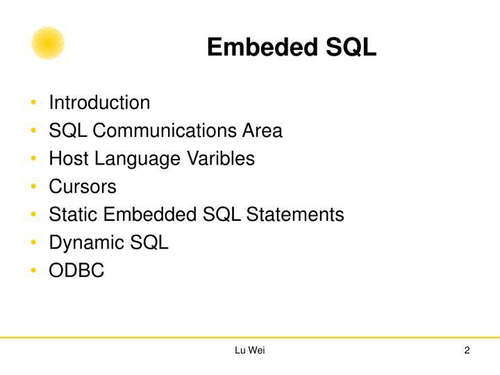 Embeded SQL