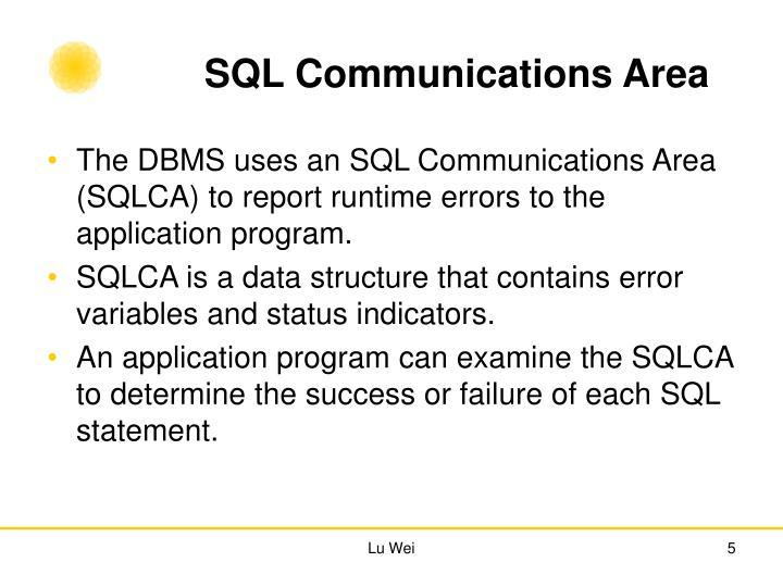 SQL Communications Area