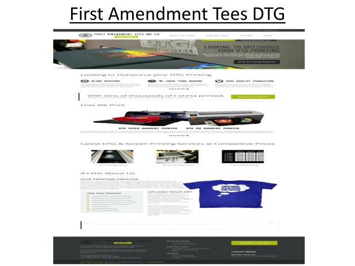 First amendment tees dtg