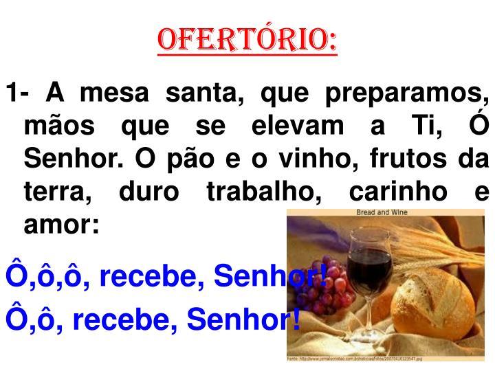 OFERTÓRIO: