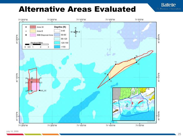 Alternative Areas Evaluated