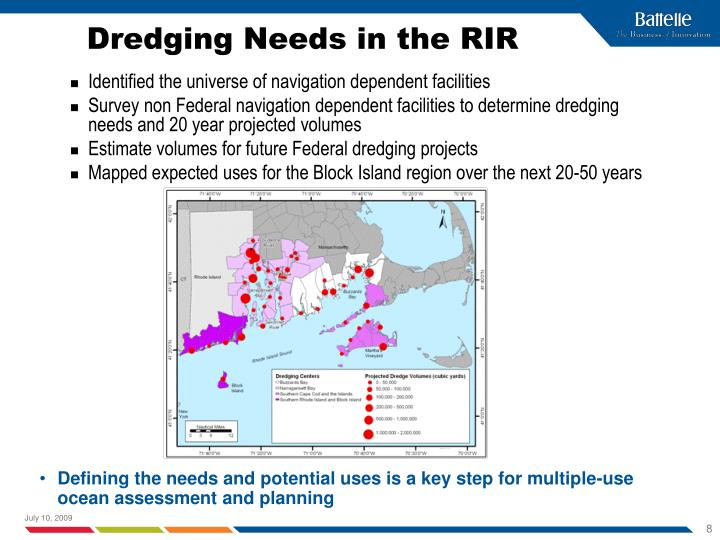 Dredging Needs in the RIR