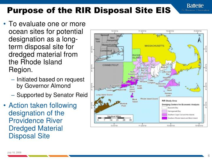 Purpose of the RIR Disposal Site EIS