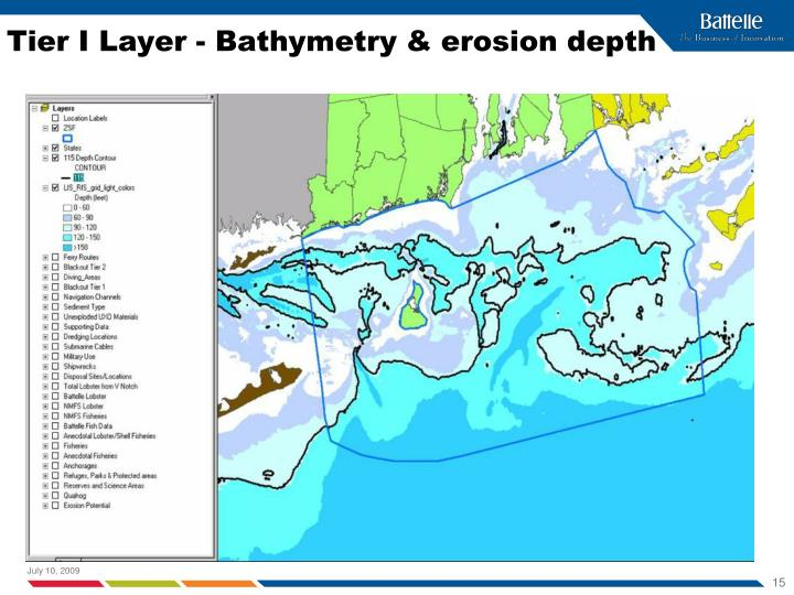 Tier I Layer - Bathymetry & erosion depth