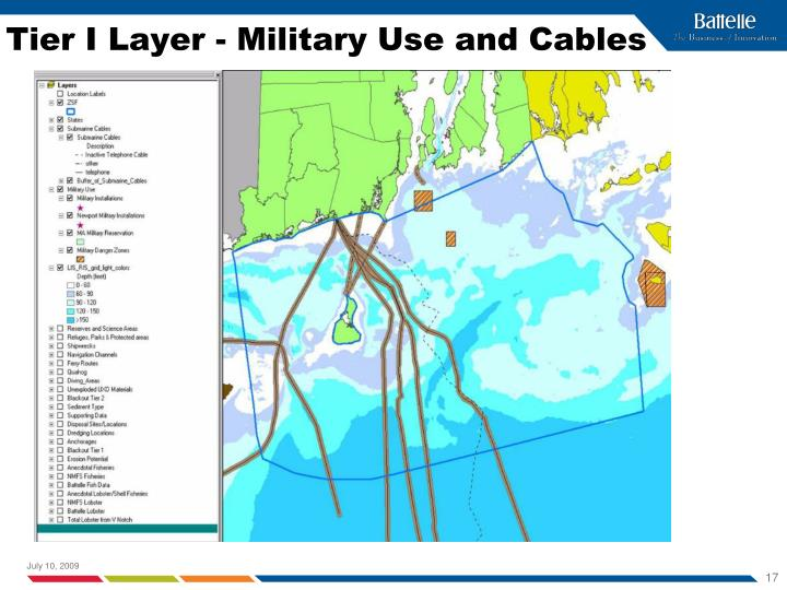 Tier I Layer - Military Use and Cables