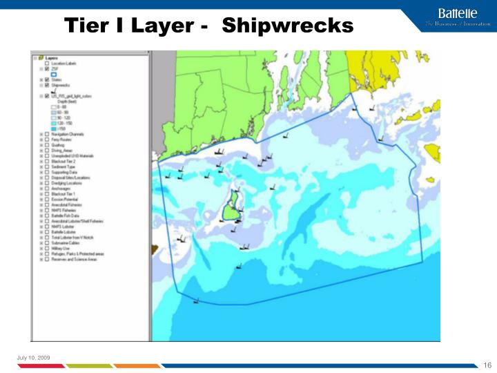 Tier I Layer -  Shipwrecks