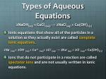 types of aqueous equations1