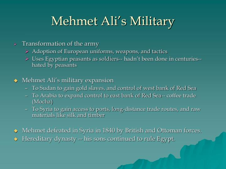 Mehmet Ali's Military