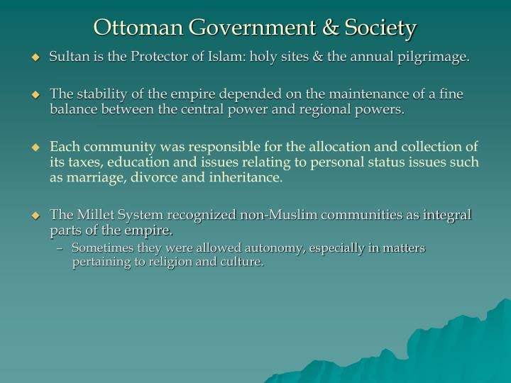 Ottoman Government & Society