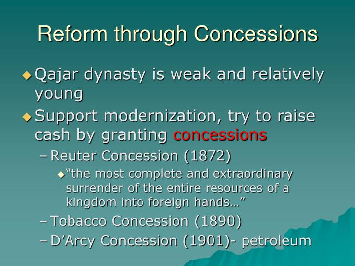 Reform through Concessions