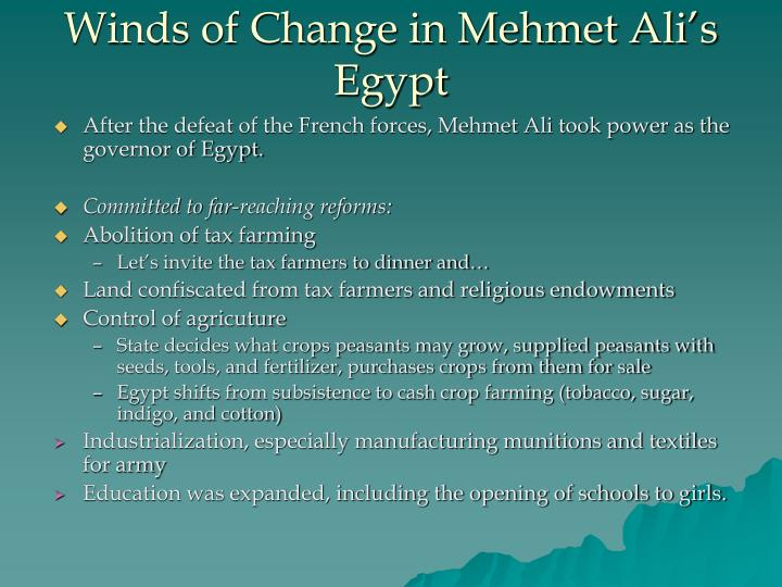 Winds of change in mehmet ali s egypt