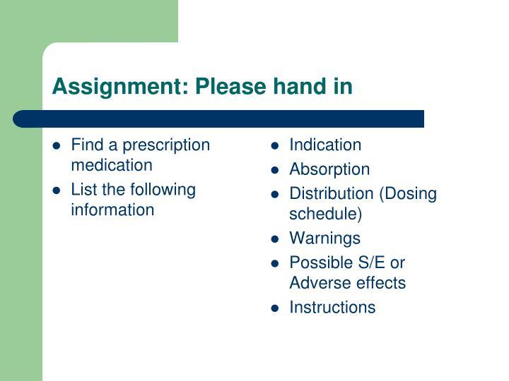 Find a prescription medication