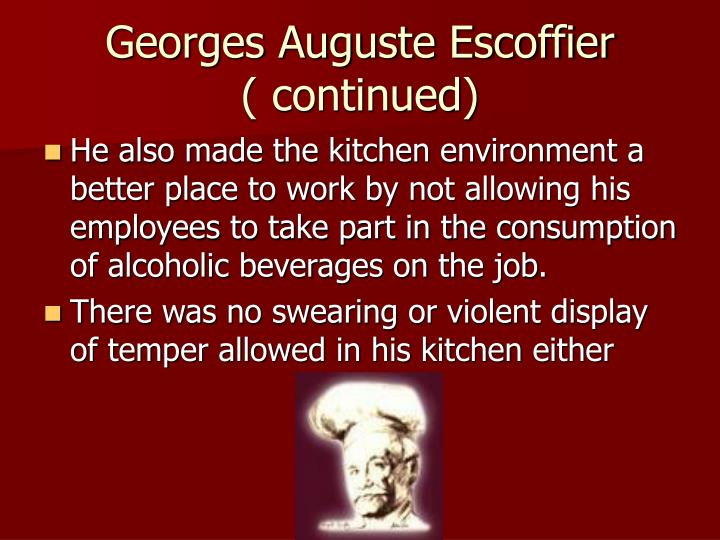 Ppt the history of culinary arts powerpoint presentation for Auguste escoffier ma cuisine book