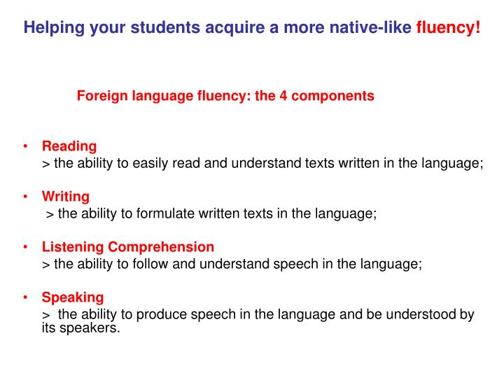 Helping your students acquire a more native-like