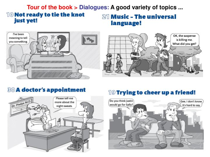 Tour of the book >